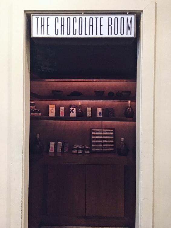 the chocolate room!