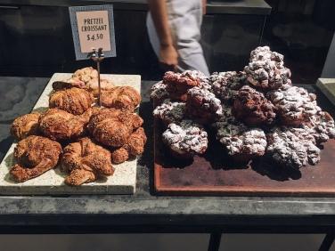 pretzel croissants and baker's muffins
